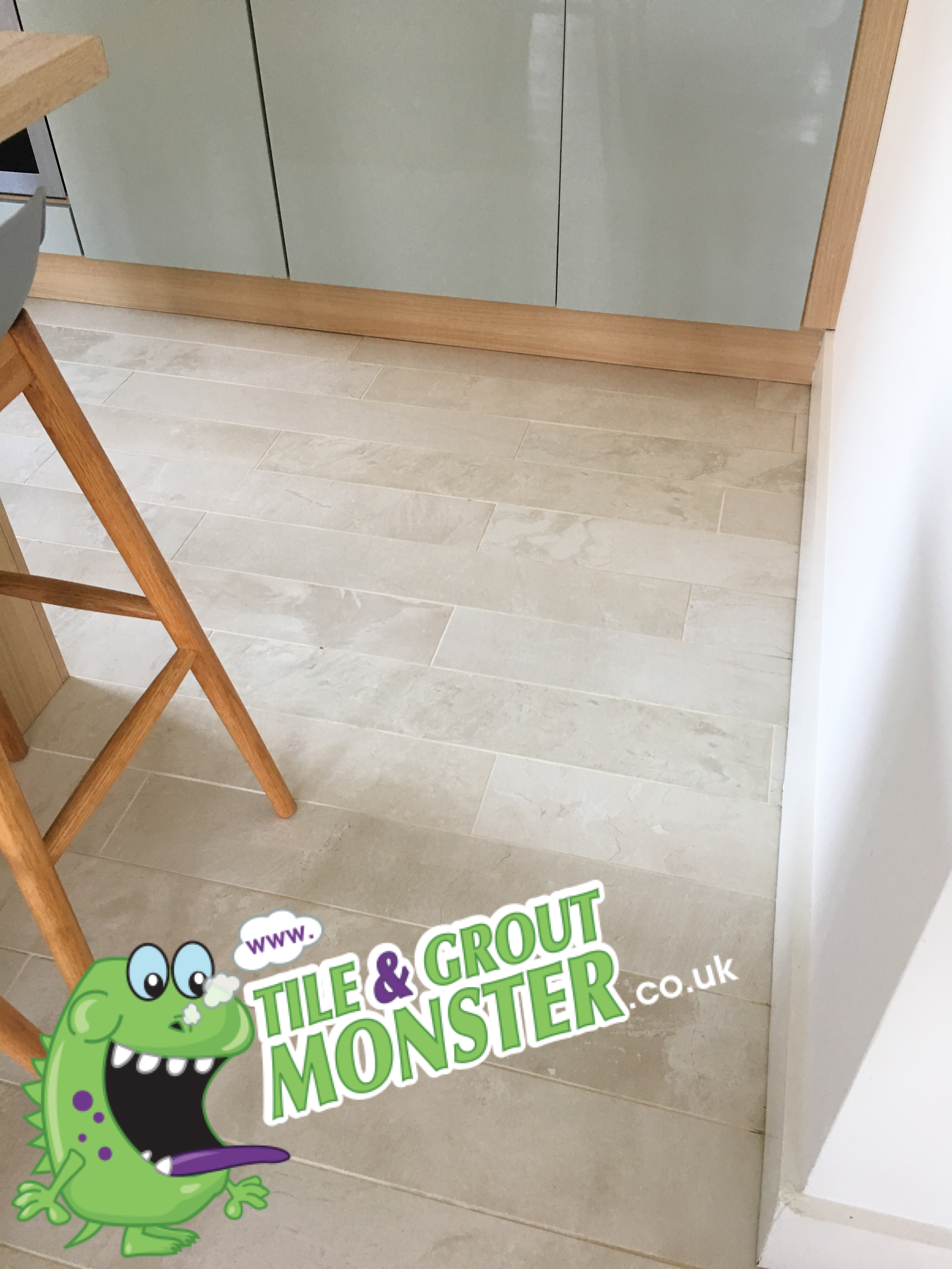 tiled floors cleaned by the TILE & GROUT MONSTER CLEANING SERVICE