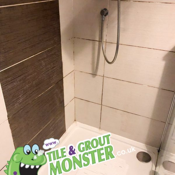 dirty shower walls cleaned by tile and grout monster Carrickfergus