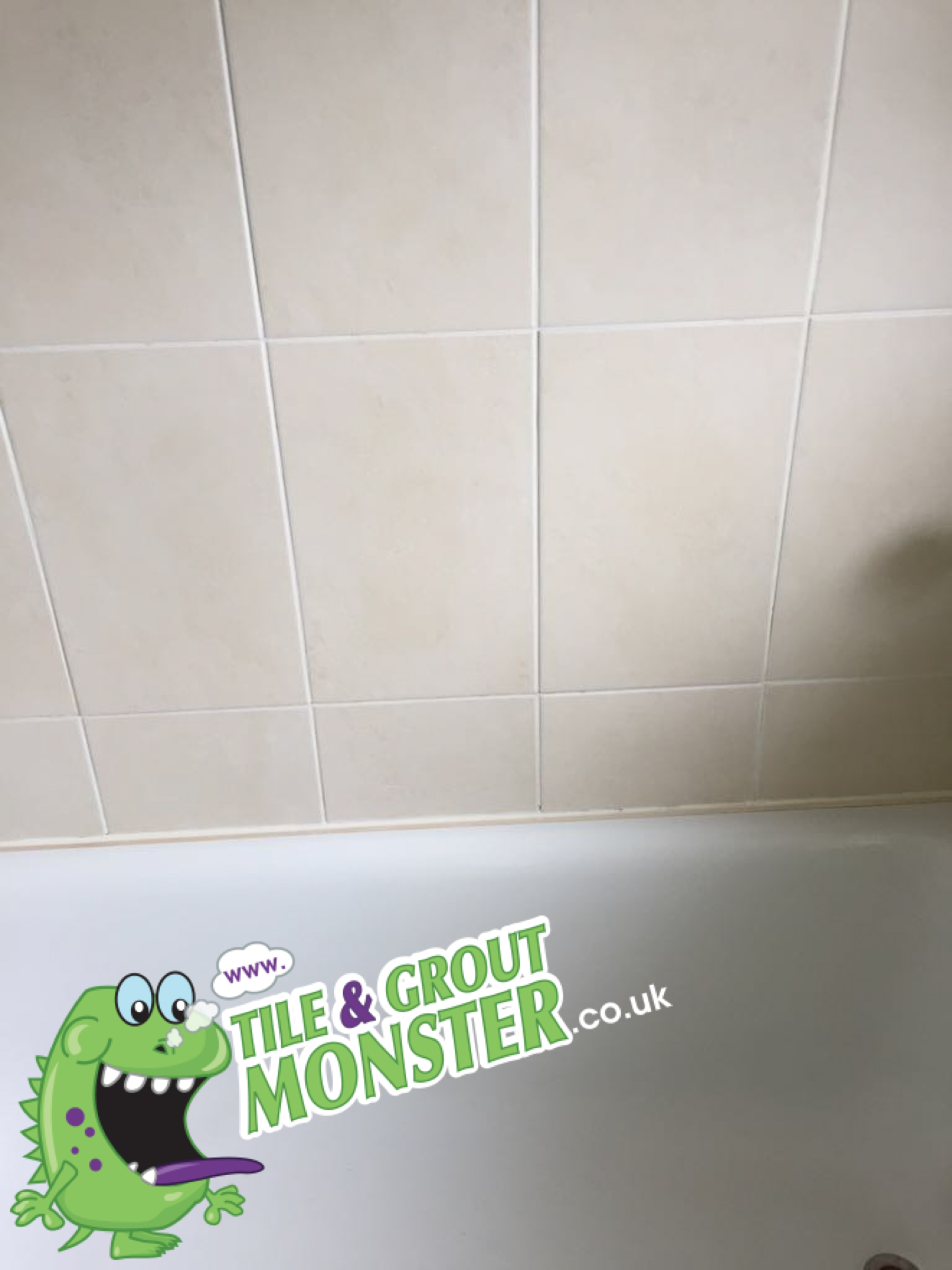 2 tile & grout monster bath 18 after CLEANING GROUT ...