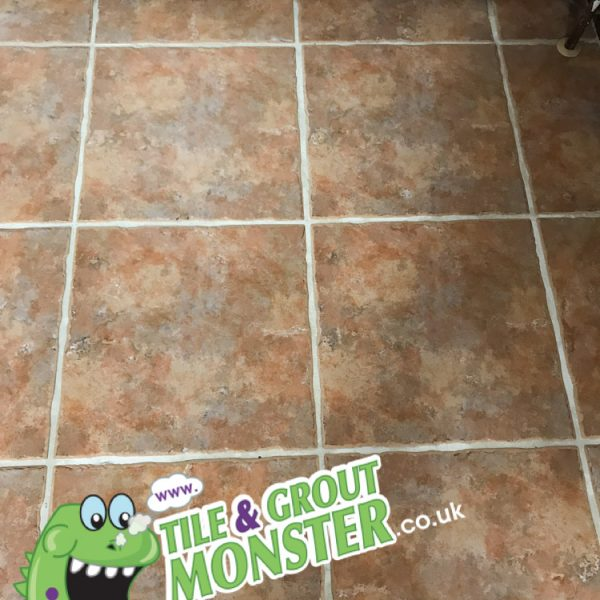 grout cleaned by GROUT MONSTER BELFAST - kitchen floor