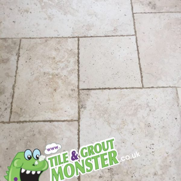 marble kitchen floor grout and tiles deep cleaned, tile and grout monster belfast