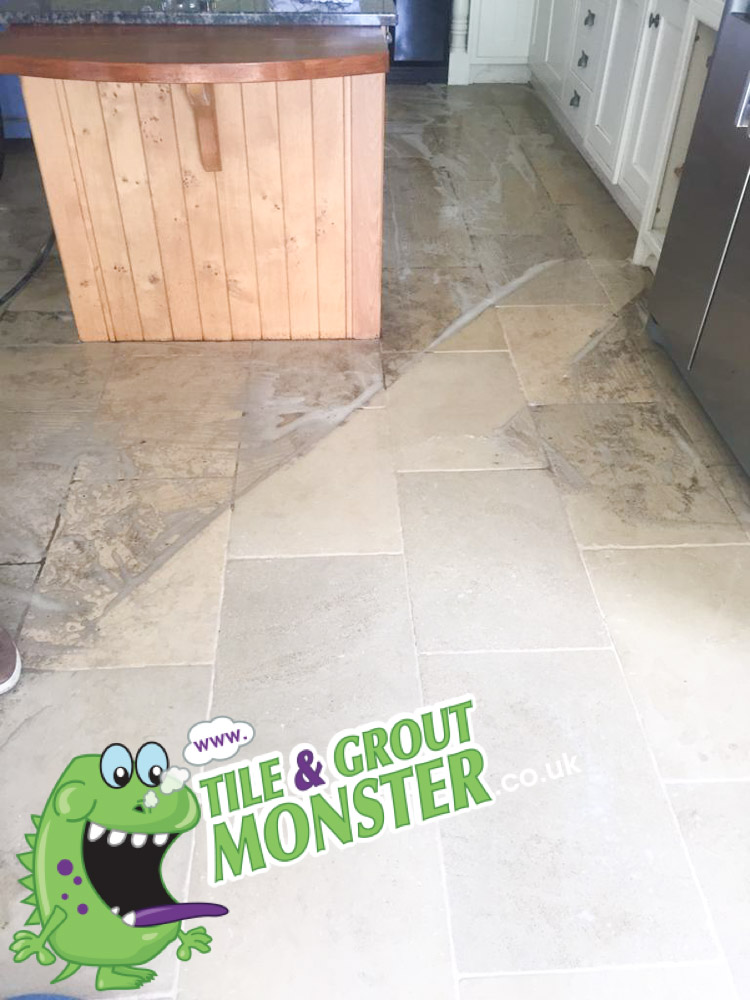marble stone floor deep cleaned, tile and grout monster belfast